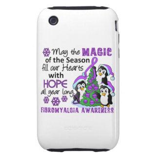 Fibromyalgia de los pingüinos del navidad tough iPhone 3 carcasa