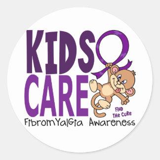 Fibromyalgia del cuidado 1 de los niños etiqueta redonda