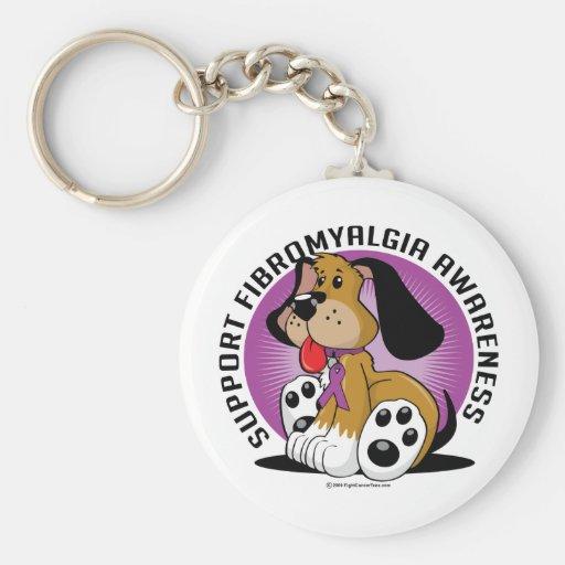 Fibromyalgia Dog Basic Round Button Keychain