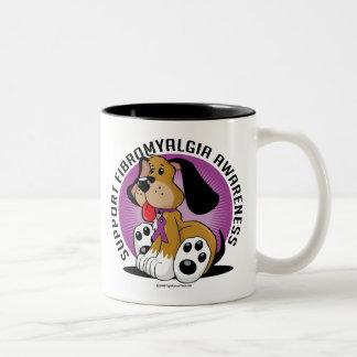Fibromyalgia Dog Two-Tone Coffee Mug
