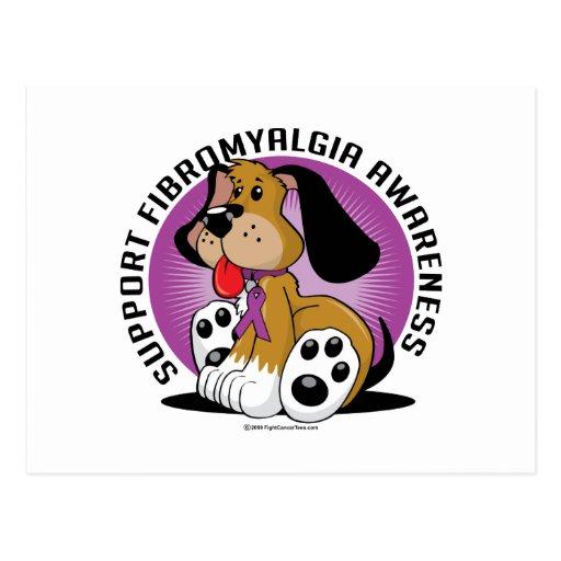 Fibromyalgia Dog Postcard