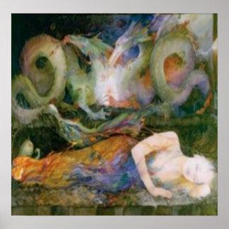 Fibromyalgia, el dragón dentro póster