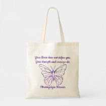 Fibromyalgia Encouragement quote tote bag strength