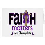 Fibromyalgia Faith Matters Cross 1 Card