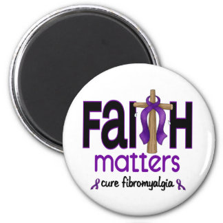 Fibromyalgia Faith Matters Cross 1 Refrigerator Magnet