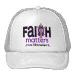 Fibromyalgia Faith Matters Cross 1 Mesh Hats