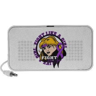 Fibromyalgia Fight Like A Girl Attitude Portable Speaker