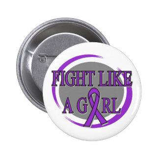 Fibromyalgia Fight Like A Girl Circular Pinback Button