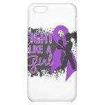 Fibromyalgia Fight Like A Girl Grunge iPhone 5C Cases