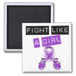 Fibromyalgia Fight Like A Girl Magnets