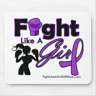 Fibromyalgia Fight Like A Girl Silhouette Mouse Pad