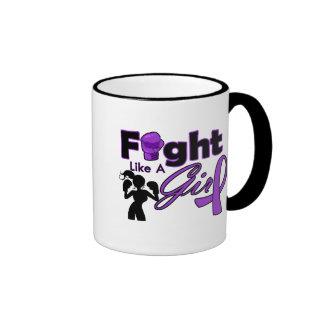Fibromyalgia Fight Like A Girl Silhouette Coffee Mug