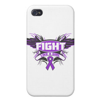 Fibromyalgia Fight Like a Girl Wings.png iPhone 4/4S Cases