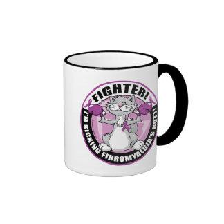 Fibromyalgia Fighter Cat Ringer Coffee Mug