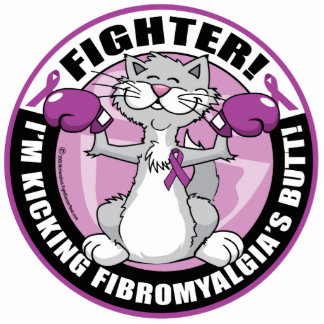 Fibromyalgia Fighter Cat Statuette