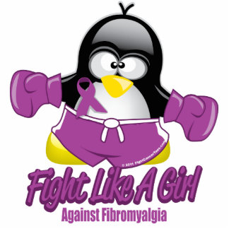 Fibromyalgia Fighting Penguin Cutout