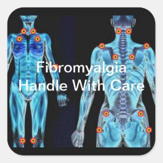 Fibromyalgia - Handle With Care Square Sticker