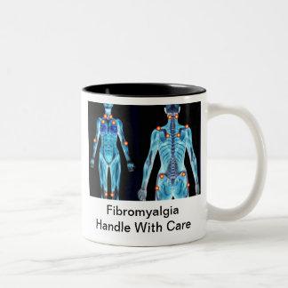 Fibromyalgia - Handle With Care Two-Tone Coffee Mug