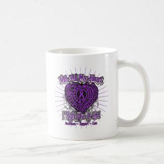 Fibromyalgia Heart I Fight Like A Girl Mugs