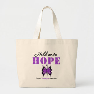 Fibromyalgia Hold On To Hope Tote Bags