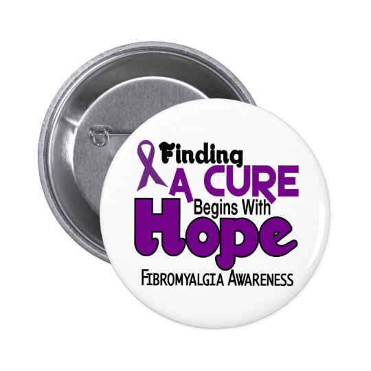 Fibromyalgia HOPE 5 Pinback Button