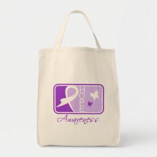 Fibromyalgia Hope Awareness Tile Canvas Bag