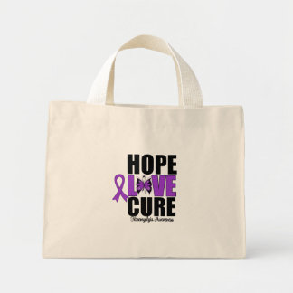 Fibromyalgia Hope Love Cure Canvas Bag