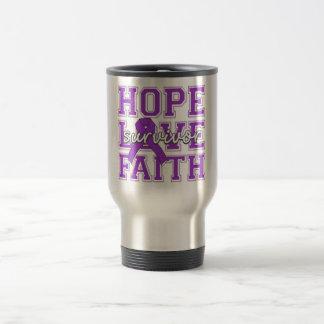 Fibromyalgia Hope Love Faith Survivor Coffee Mugs