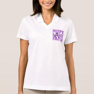 Fibromyalgia Hope Love Faith Survivor Polo T-shirt