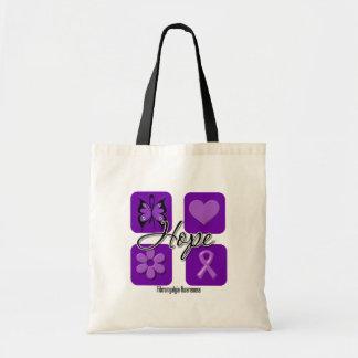 Fibromyalgia Hope Love Inspire Awareness Tote Bags