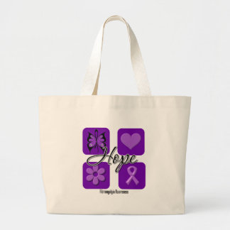 Fibromyalgia Hope Love Inspire Awareness Large Tote Bag