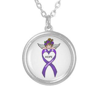 Fibromyalgia Hope Round Pendant Necklace
