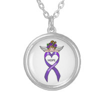 Fibromyalgia Hope Silver Plated Necklace