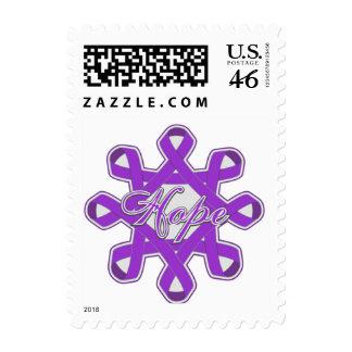 Fibromyalgia Hope Unity Ribbons Stamp