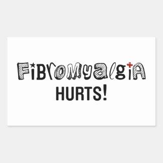 Fibromyalgia Hurts ! Awareness Rectangle Sticker