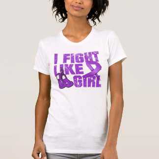 Fibromyalgia I Fight Like A Girl (Grunge) Tee Shirt
