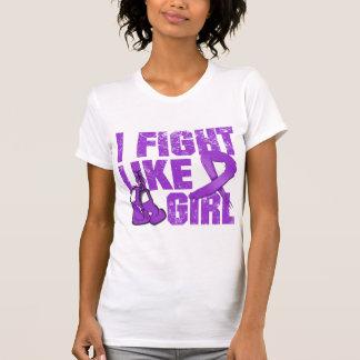 Fibromyalgia I Fight Like A Girl (Grunge) Tshirt