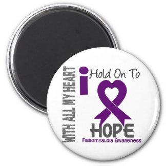 Fibromyalgia I Hold On To Hope 2 Inch Round Magnet
