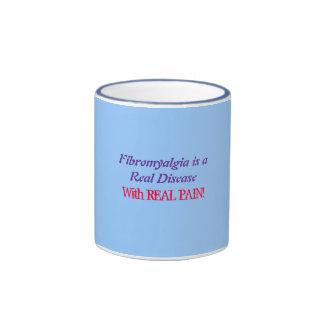 Fibromyalgia is aReal Disease, With REAL PAIN! Ringer Coffee Mug