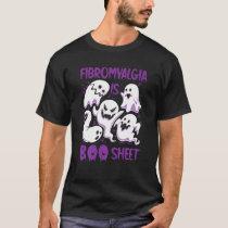 Fibromyalgia Is Boo Sheet Purple Boos Funny Hallow T-Shirt