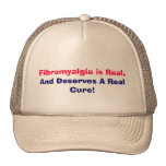 Fibromyalgia is Real,, And Deserves A Real Cure! Mesh Hat