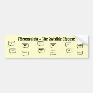 Fibromyalgia - la enfermedad invisible pegatina para auto
