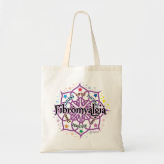 Fibromyalgia Lotus Canvas Bags