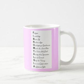 fibromyalgia classic white coffee mug
