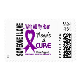 Fibromyalgia Needs A Cure 3 Postage Stamp