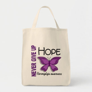 Fibromyalgia Never Give Up Hope Butterfly 4.1 Canvas Bag