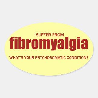 Fibromyalgia... Oval Sticker