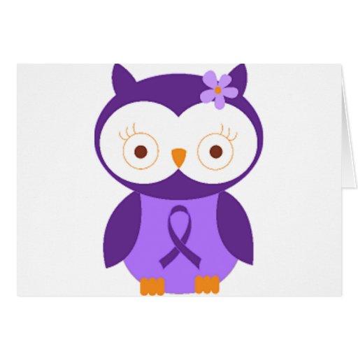 Fibromyalgia Owl Greeting Card