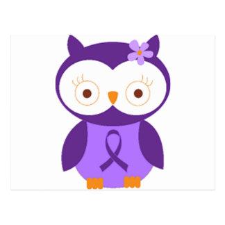 Fibromyalgia Owl Postcard