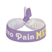 Fibromyalgia Pain Level Purple Bracelet Elastic Hair Tie